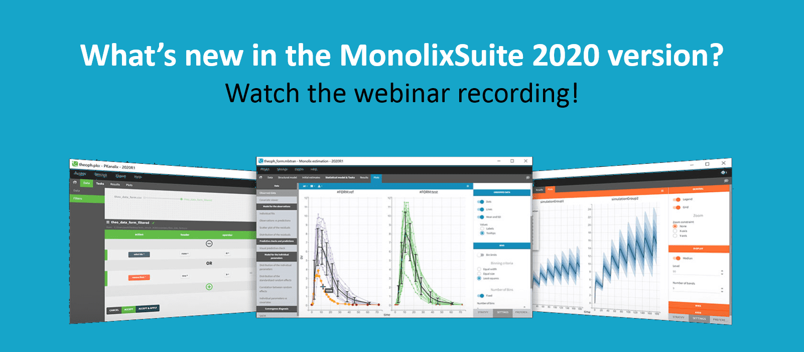What's new in the MonolixSuite 2020